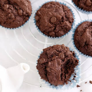 Triple Chocolate Protein Muffins.