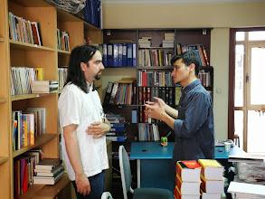 Photo: Karol and Ayat at the Kurdish Institute of Istanbul