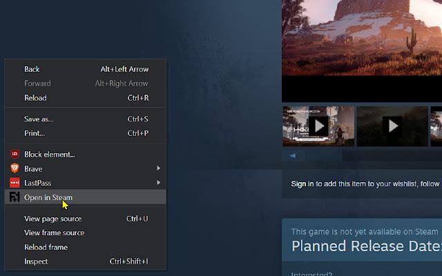 Open in Steam