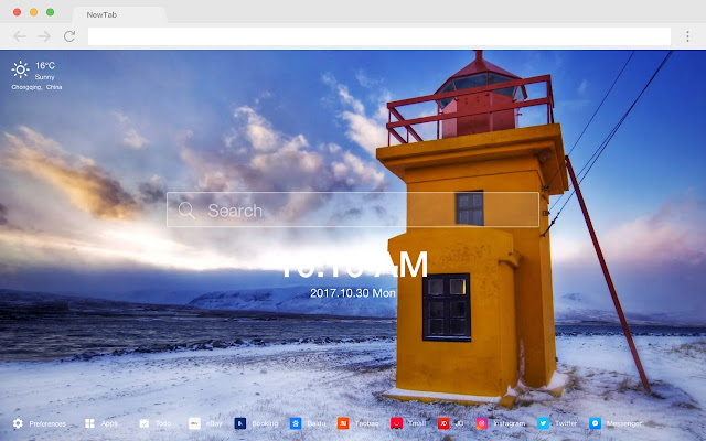 Iceland Popular Scenery HD New Tabs Theme