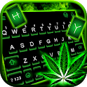 Neon Rasta Weed Keyboard Theme icon