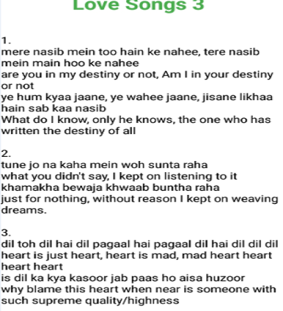 Speaking English Hindi Songs With English Lyrics Android Apps Appagg Arijit singh, from the movie aashiqui 2 written by: speaking english hindi songs with