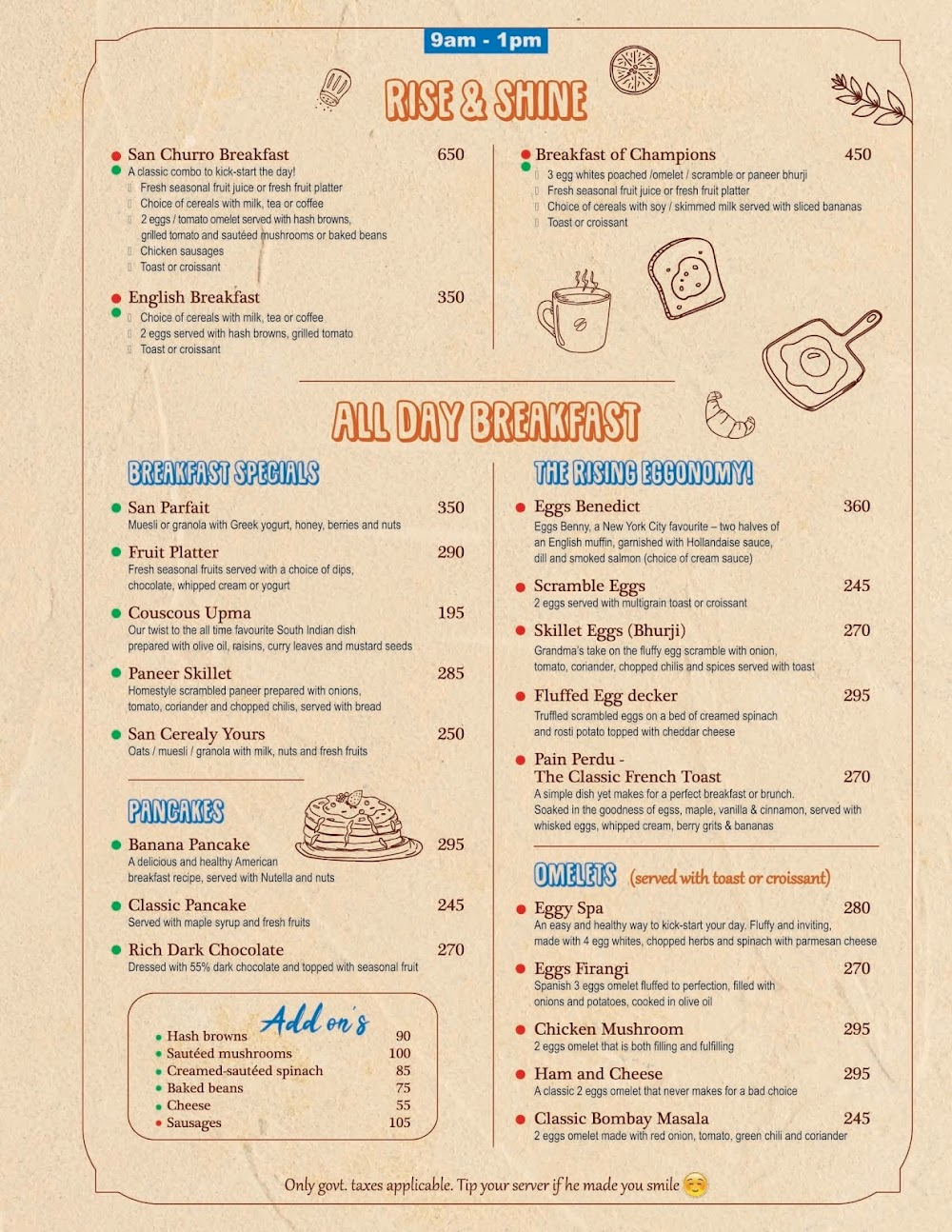 Chocolateria San Churro menu 8