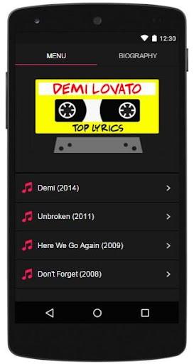 Demi Lovato Lyrics Top
