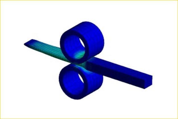 ANSYS - Моделирование прокатки металлической заготовки
