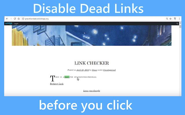 Hover Link Checker