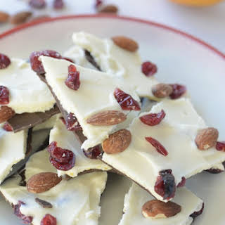 Cranberry Orange Chocolate Bark With Almonds.
