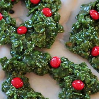 Christmas Cornflake Wreath Cookies.