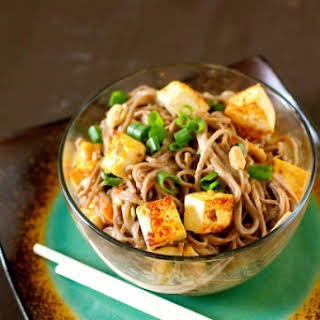 Spicy Soba Noodles with Peanut Sauce.