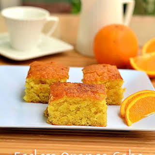 Eggless Orange Cake.