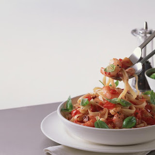 Spicy Shrimp, Pine Nut and Tomato Tagliatelle Recipe