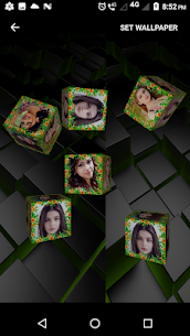 3D Photo Cube Frame Live Wallpaper 5