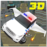 Flying Car Police Chase 3D Icon