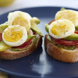 Ham, Egg and Avocado Toasts.