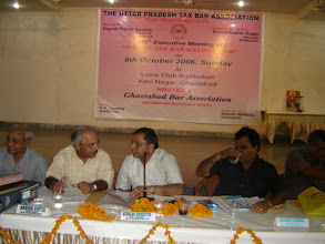 Photo: Dr. Adish C. Aggarwala presiding over function  of Uttar Pradesh Tax Bar Association on 8.10.2006 at Ghaziabad.