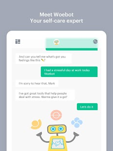 Woebot: Your Self-Care Expert Screenshot