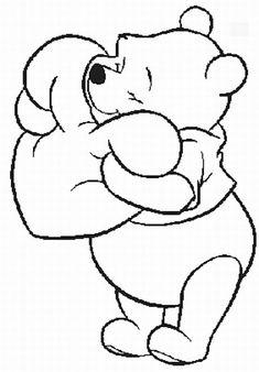 Winnie the Pooh valentine coloring page