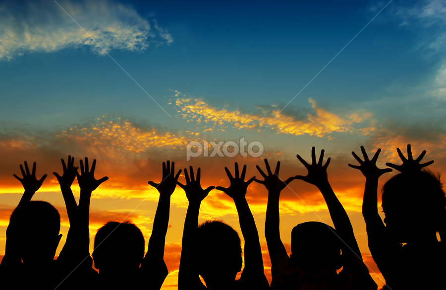 in many hands by Djeff Act - Babies & Children Children Candids ( silhouette )