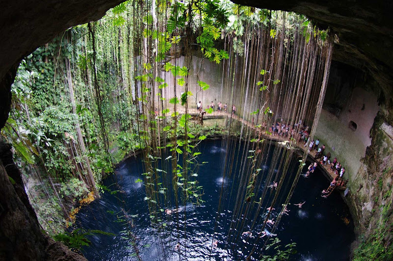 Cenote Sagrado in Chichen Itza, Mexico. It's roughly a two-hour drive from Cancun, Tulum or Playa del Carmen.