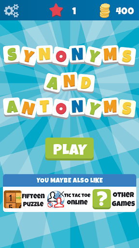 Synonyms and Antonyms - Word game with friends - screenshot