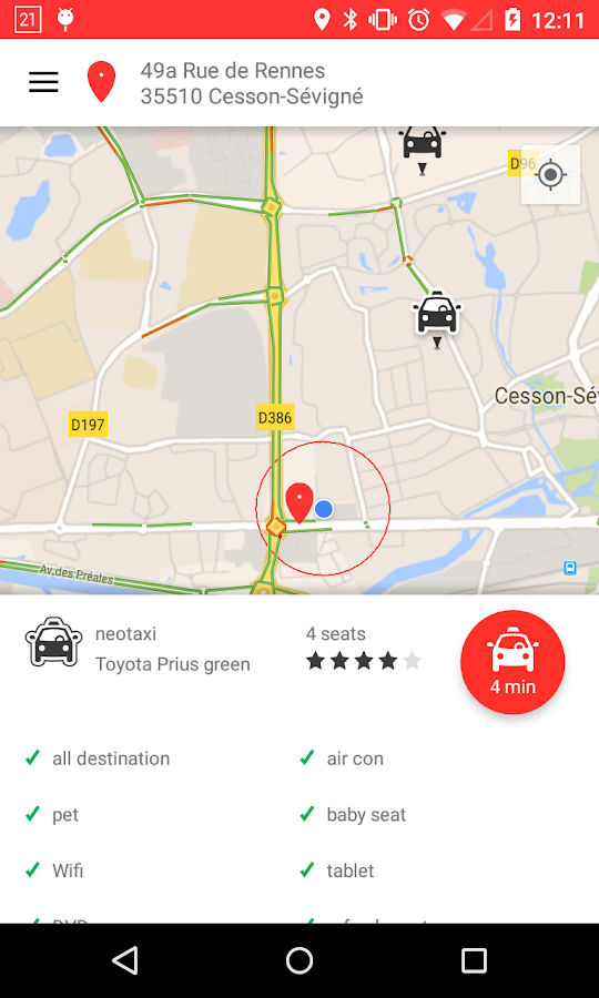 tedyCab - tap for a cab- screenshot