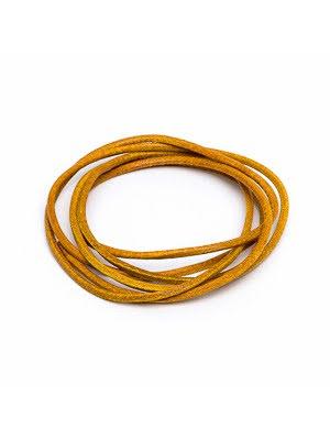 Läderrem gul 1 m 1,3 mm tjock