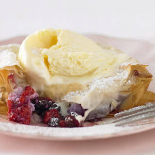 Mixed Berry and Ricotta Strudels.