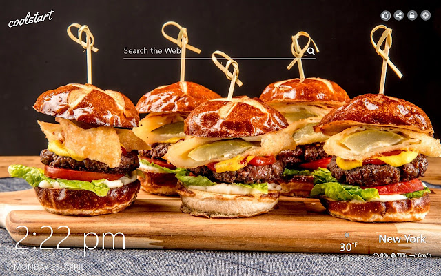 Pizza and Burgers HD Wallpapers New Tab Theme