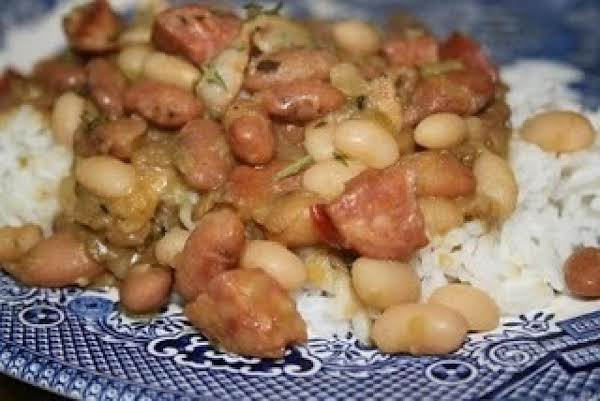 Comfort Food Sausage, Beans And Rice Recipe