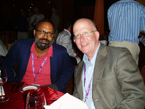 Photo: Ramesh and Mike Haley at dinner