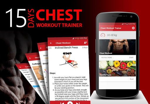 15 Days Chest Workout Trainer screenshot 1