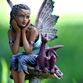 Sitting Fairy by Jacques De Villiers - Artistic Objects Toys
