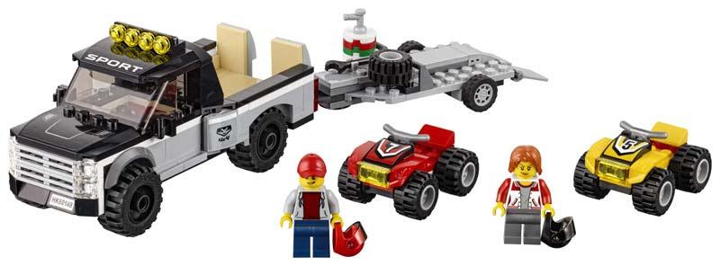 Contenido de Lego® 60148 Todoterreno del Equipo de Carreras