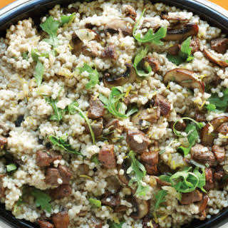 Lamb & Mushroom Barley Risotto.