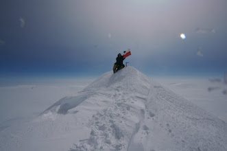 Photo: Tomek on the summit