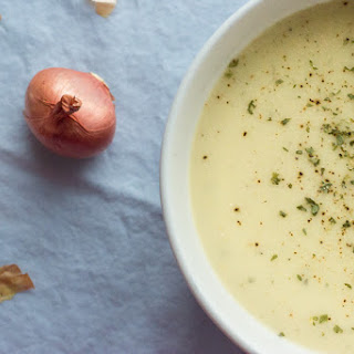 White Bean & Shallot Soup With Tahini