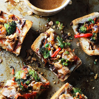 Spicy Thai Chicken French Bread Pizzas Recipe