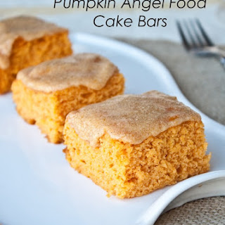 3 Ingredient Pumpkin Angel Food Cake Bars Recipe