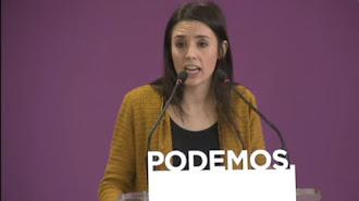 Irene Montero, de Podemos.