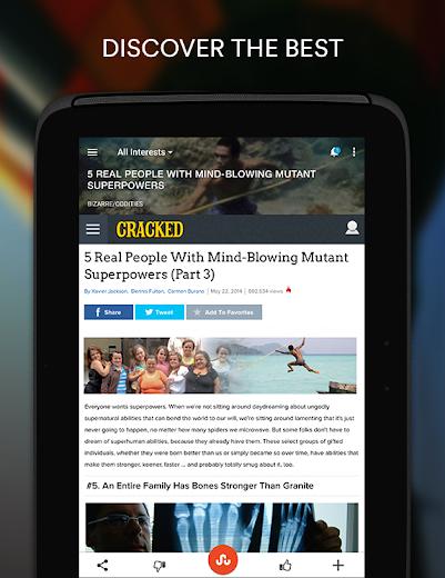 Screenshot 7 for StumbleUpon's Android app'