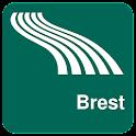 Mapa de Brest offline icon