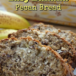 Easy Banana Pecan Bread.