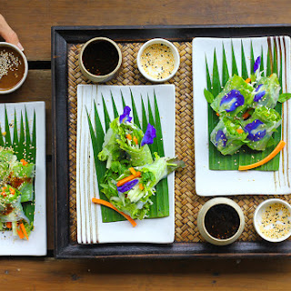 Gluten Free Spring Rolls with Tamarind Dip from the Chef at Anantara Layan (GF, DF, SF).