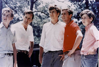 Photo: 374942 14: George Bush Sr. with his four sons, left to right, Neil, Jeb, George W., and Marvin. in 1970. George W. Bush is currently campaigning for the Republican party for the presidential election in November 2000. (Photo by Newsmakers)