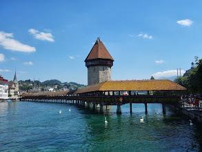Photo: most Kapellbrücke v Luzern