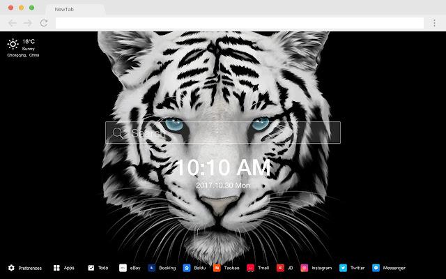 Tiger New Tab HD Wallpapers Pop Animals Theme