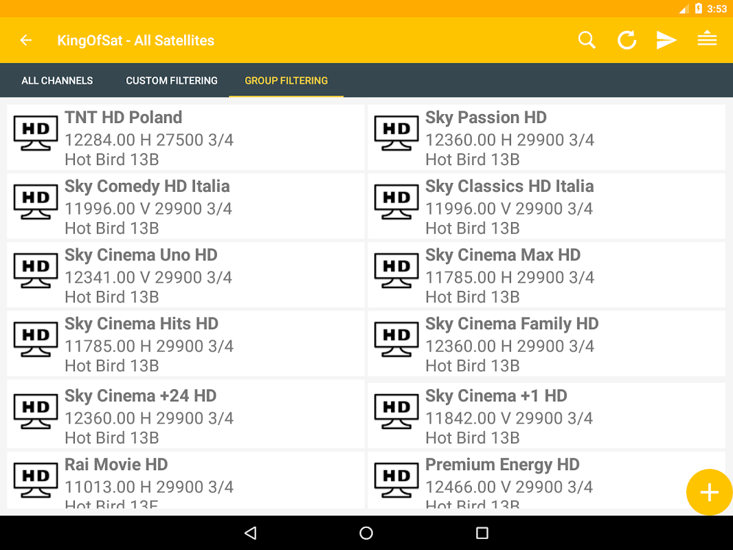 Hotbird Frequency List APK Latest Version Download - Free Tools APP