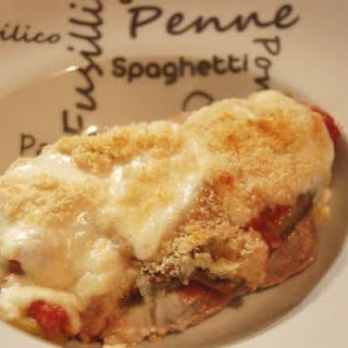 Eggplant and Veal Parmesan.