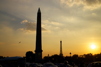 Photo: Spectacular sunset in Paris. We really lucked out with the weather.