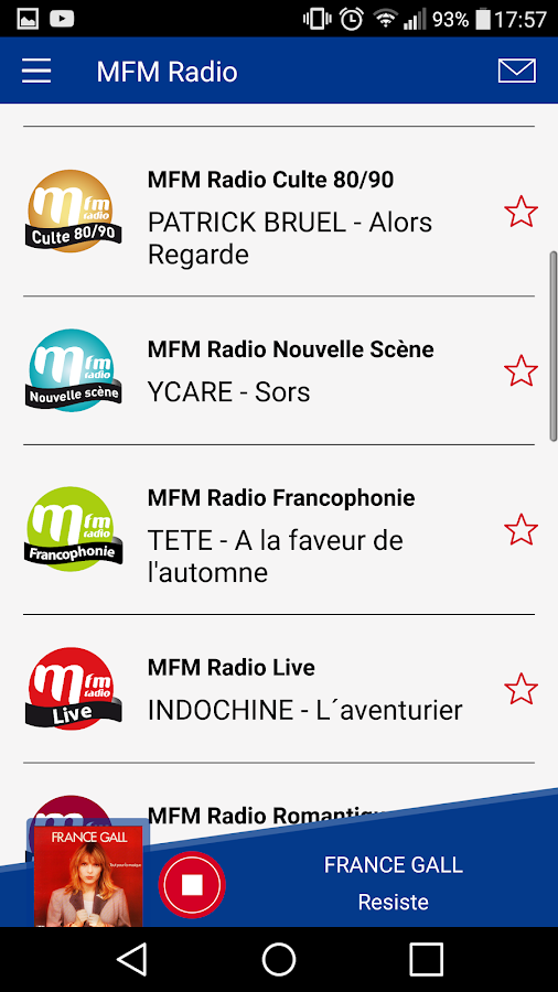 MFM Radio french songs- screenshot